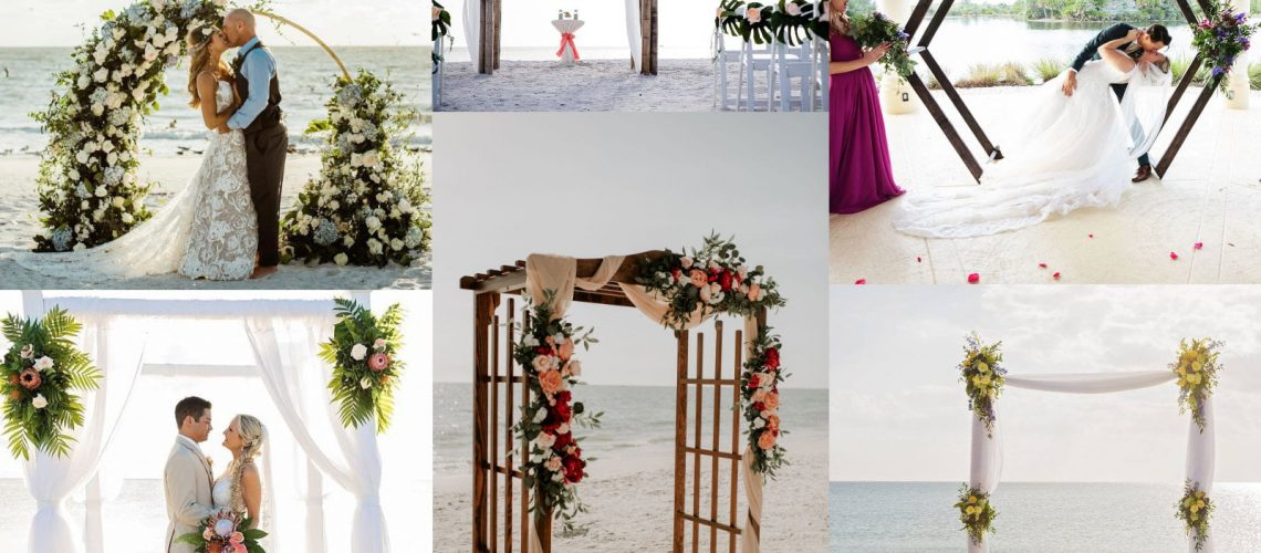 The Best Beach Wedding Ceremony Arches: Incorporating Unique Style with Functional Decor