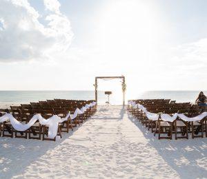 Lovers Key Wedding Ceremony Setup